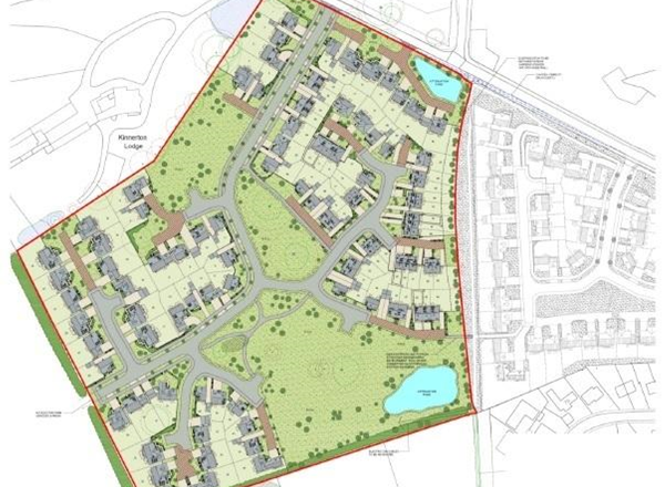 Refusal of planning application for the 95 dwellings near Kinnerton Meadows